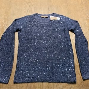 The Limited navy blue sweater with sparkles.
